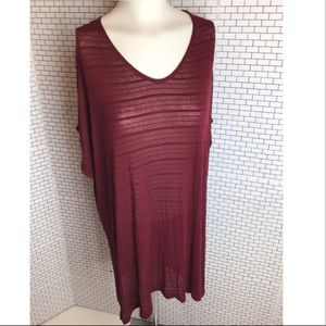 NWT Addition Elle Plus Size Red Top.